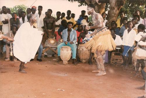 Abosom dancing