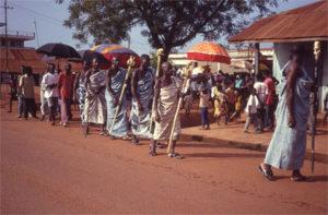 Apo festival - Takyimanhene on his way to bring the Apo
